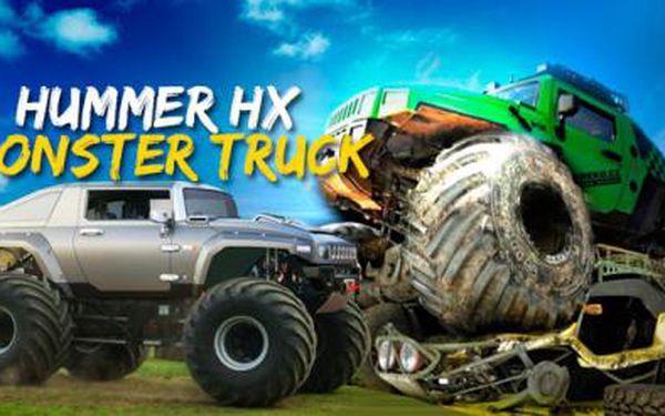 Hummer HX MONSTER TRUCK na největším tankodromu v ČR! 30 minut adrenalinové jízdy!
