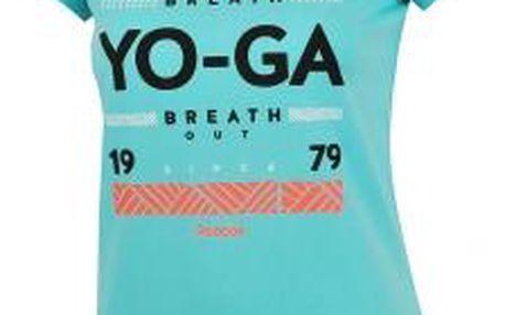 Dámské tričko Reebok GR YOGA modrá L