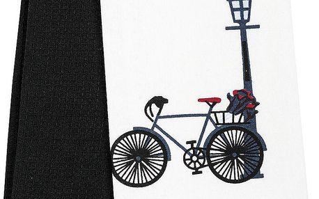 France Invendus Kuchyňská utěrka Jízdní kolo, 40 x 60 cm, sada 2 ks