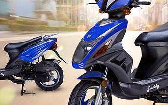 Benzínový skútr GS Buddy: skvělý vzhled, nízká spotřeba a další bonusy v ceně!