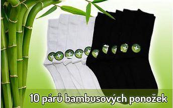 10 párů pánských nebo dámských vysokých ponožek s bambusovým vláknem. Materiál bavlna s podílem bambusového vlákna.
