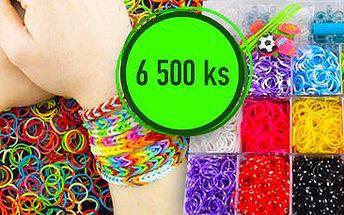 Sada na loom náramky: 6 500 kusů v praktickém kufříku! Vhodné pro děti od 6 let.