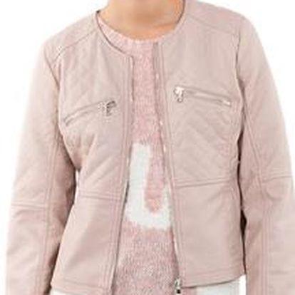 Dámská elegantní světle růžová bunda Mim