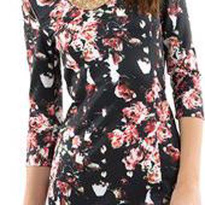 Dámské šaty s květovaným vzorem Mim