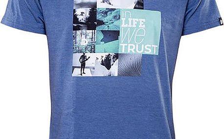 Pánské modré tričko s potiskem Fundango