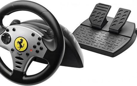 Inovovaná nejprodávanější sada herního volantu a pedálů Thrustmaster Ferrari Challenge Racing Wheel / PS3+PC