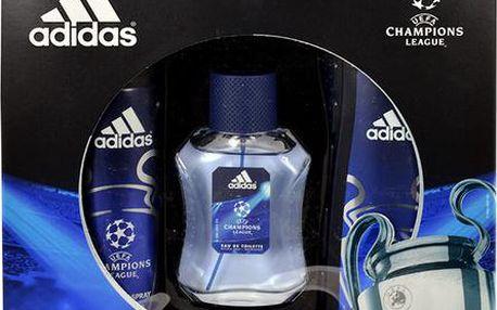 Adidas UEFA Champions League dárková sada M - Edt 50ml + 250ml sprchový gel + 150ml deodorant