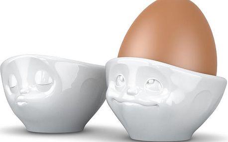 Kalíšky na vajíčka zamilovaný pár, bílý