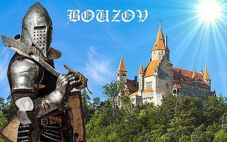 Pohádkový pobyt s výhledem na hrad Bouzov pro dva včetně polopenze + dítě do 6 let zdarma