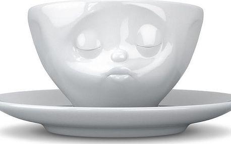 Líbající hrnek na kávu, bílý
