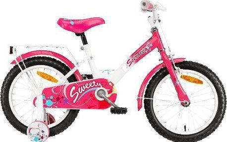 """Dívčí kolo Scirocco Sweety 16"""" s balančními kolečky"""