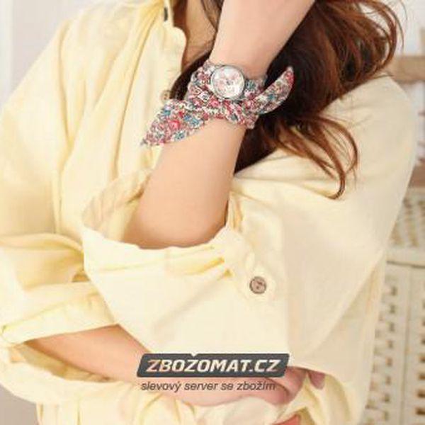 Romantické hodinky s látkovým páskem!