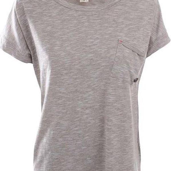 Dámské žíhané tričko s náprsní kapsou Timeout