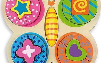 ANDREU Toys Puzzle Motýl