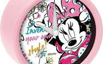 Světle růžový budík Minnie