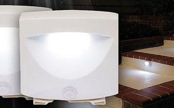 LED svítidlo se senzorem pohybu – 2 kusy: skvělé do interiéru i exteriéru!