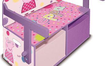Dřevěná lavice a stůl 3v1 Peppa Pig