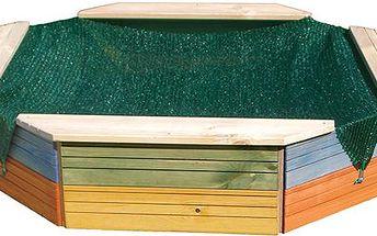 Pískoviště dřevěné - barevné