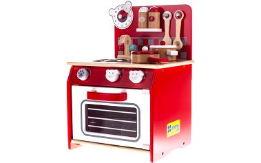 Dřevěná kuchyňka s výbavou - méďa