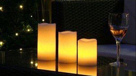 3 kusy LED svíček na dálkové ovládání, pro dokonalý romantický večer a rodinnou atmosféru. Poštovné v ceně!