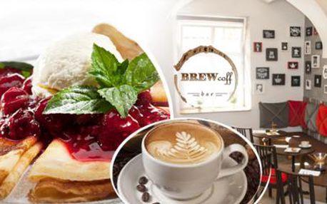 CAPPUCCINO nebo LATTÉ a 2 PALAČINKY pro 1 osobu v kavárně přímo v centru PRAHY + možnost SVAŘÁKU!