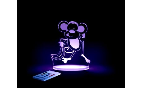 Noční světýlko Opička + ovladač pro volbu barev