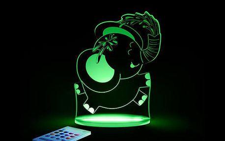 Noční světýlko Sloník + ovladač pro volbu barev