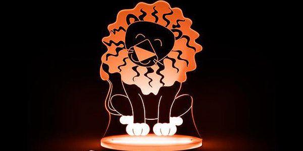 Noční světýlko Lev + ovladač pro volbu barev