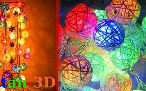 Designové dekorativní osvětlení - Rattan 3D.Ideální pro zdobení zábradlí, oken, krbů, vánočních stromků, dětských pokojů, vánočních stolů, ložnic, ale také do obchodů, cukráren, svatebních salonů...Vhodné pro jakýkoliv interiér.
