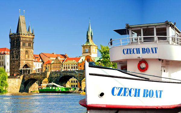 2hodinová plavba s rautem nebo 3hodinová večerní plavba s rautem i hudbou po Praze pro 1