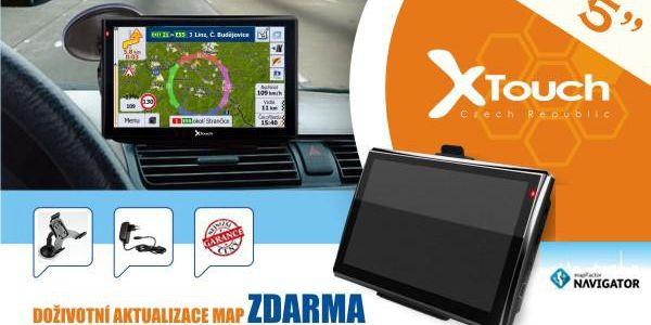 """GPS Navigace X-Touch Person GPS 5"""" model 2015 Český jazyk a mapy doživotně zdarma"""