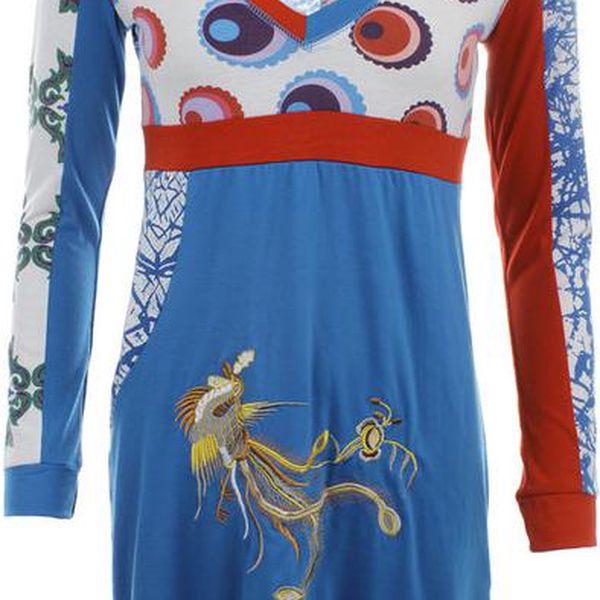 Dámské modro-bílo-červené šaty Dislay DY Design