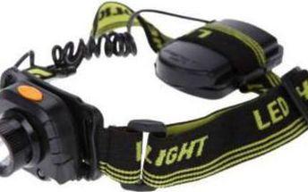 LED čelovka se senzorem pohybu a 3 režimy svícení