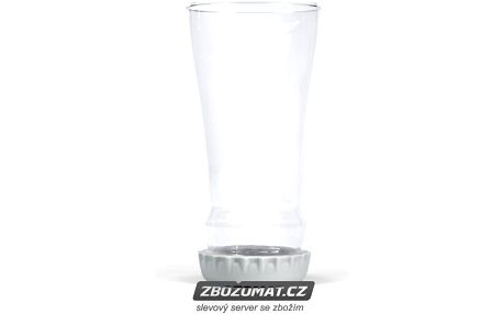 Sklenice na pivo s táckem/zátkou FRED Hopped Up - nalijte si pivo do obrácené láhve!