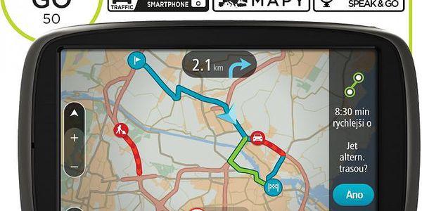 """Automobilová GPS navigace TOMTOM GO 50 s velkým 5"""" dotykovým displejem"""