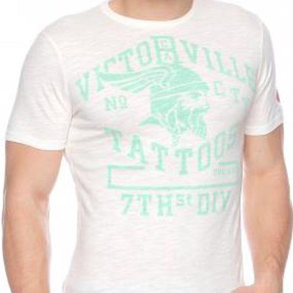 Pánské bavlněné tričko Timeout 144081101JE24_aw14 L smetanová