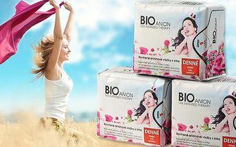 Antibakteriální dámské hygienické vložky značky BIOanión
