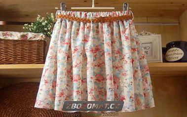 Jarní retro sukně s páskem v mnoha romantických vzorech!