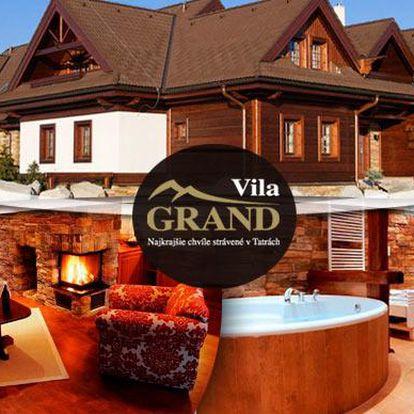 Wellness a noblesa Tater v apartmánové rezidenci Vila Grand