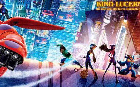 2 lístky na animované dobrodružství Velká šestka 3D