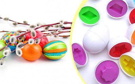 Set 6 kusů barevných vajíček. Krásná, dekorativní puzzle vajíčka se kterými si budou rádi hrát Vaše děti.