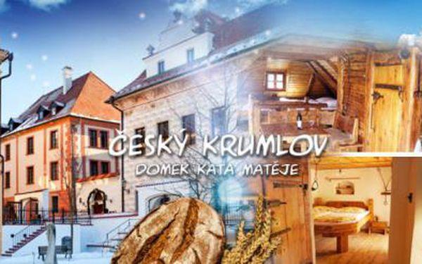 3DENNÍ pobyt pro DVA se SNÍDANÍ v DOMKU KATA MATĚJE v historickém centru Českého Krumlova!