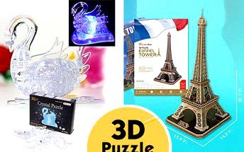 3D puzzle Eiffelova věž nebo Svítící labuť