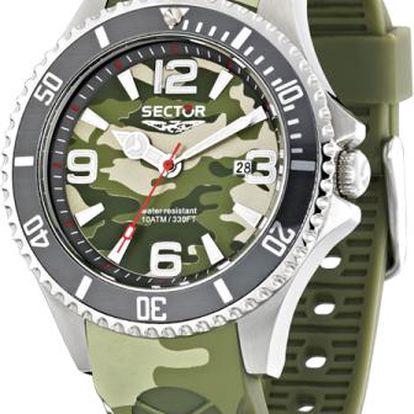 Pánské hodinky značky Sector zaujmou všechny příznivce army stylu