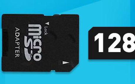 Paměťová karta 128 GB: Micro SD HD karta s adaptérem. Doručení zdarma!