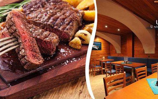2 argentinské hovězí steaky s hranolky