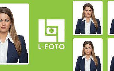 4 průkazové fotky z profi ateliéru L-FOTO