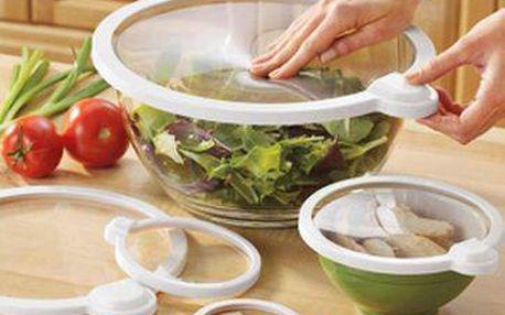 Sada vakuových uzávěrů - 4ks pro čerstvé potraviny po dlouhou dobu!