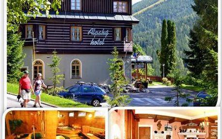 Třídenní pobyt v Krkonoších v Alpském hotelu s polopenzí a masážemi pro dvě osoby jen za 3 190 Kč. ubytování pro dva na 3 dny/2 noci, 2x bohatá polopenze, kávička na hotelové terase, welcome drink, 1x masáž pro každého (aroma/havana), wifi, neomezený vstu