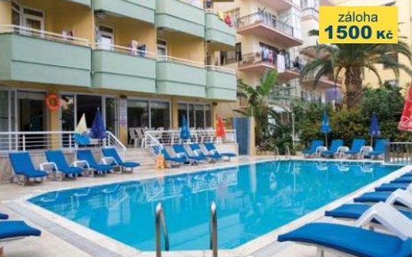 Turecko, oblast Alanya, doprava letecky, snídaně, ubytování v 3* hotelu na 8 dní